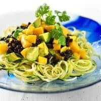 Zucchini Pasta with Mango and Avocado by Gena Hamshaw from Choosing Raw