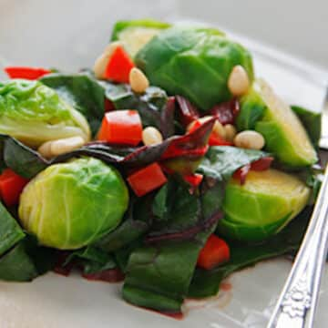 Brussels sprouts with chard