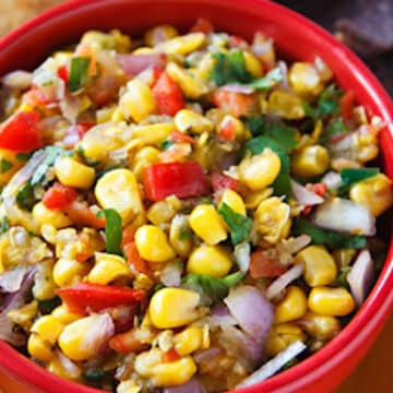 Fresh corn and tomatillo salsa