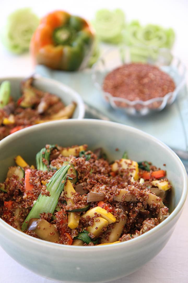 Inca Quinoa Stir Fry by Leigh Chantelle from Viva La Vegan