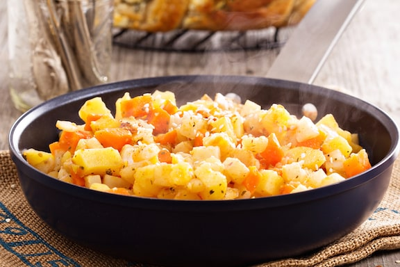 Root vegetable hash browns