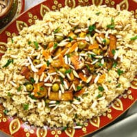 Moroccan-Style Tofu with Apricots, Almonds, and Olives