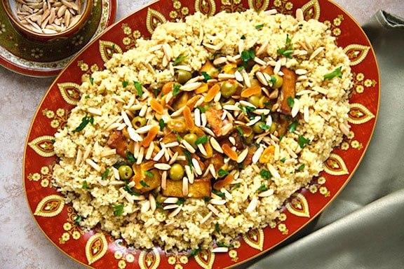 Jewish new year vegkitchen moroccan style tofu with apricots almonds and olives forumfinder Choice Image