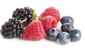 Blackberry, raspberry, blueberry