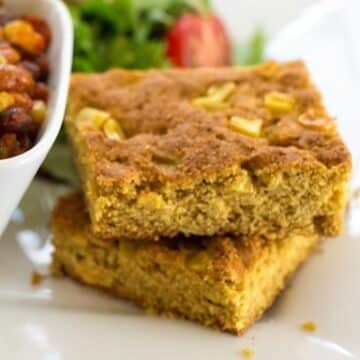 Vegan corn kernel cornbread recipe
