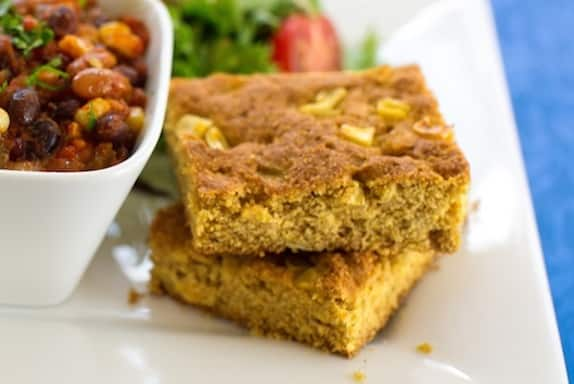 Vegan corn kernel cornbread recipe