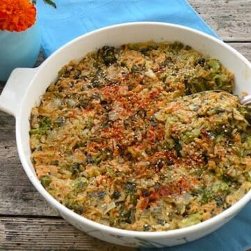 broccoli and vegan cheddar rice casserole recipe