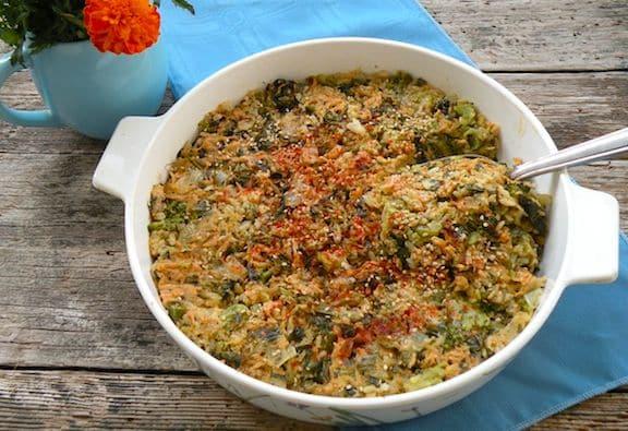 broccoli and vegan cheddar rice casserole recipe
