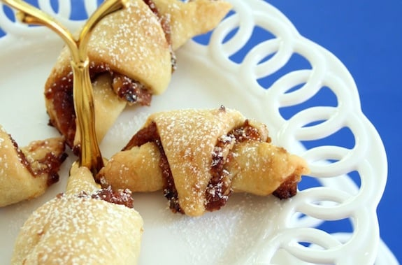 Apple walnut vegan rugelach
