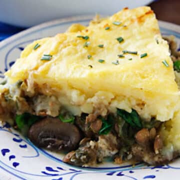 Lentil and mushroom Shepherd's pie recipe