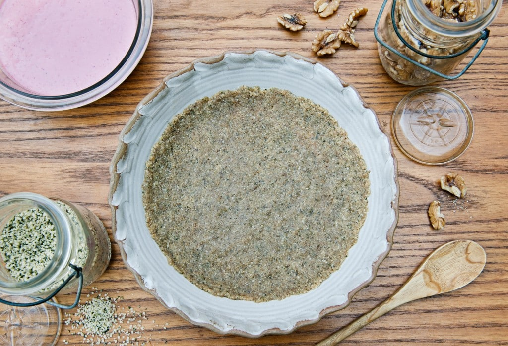 Hemp Walnut Pie Crust from Leslie Cerier