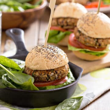 Vegan bean burgers or sliders