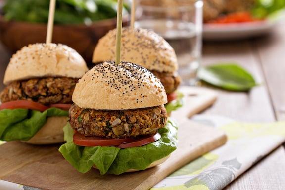 Vegan bean burgers or sliders recipe