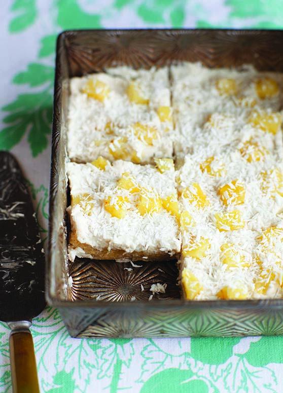 Piña Colada Squares dessert