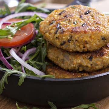 Quinoa and Wild Rice Vegan Burger