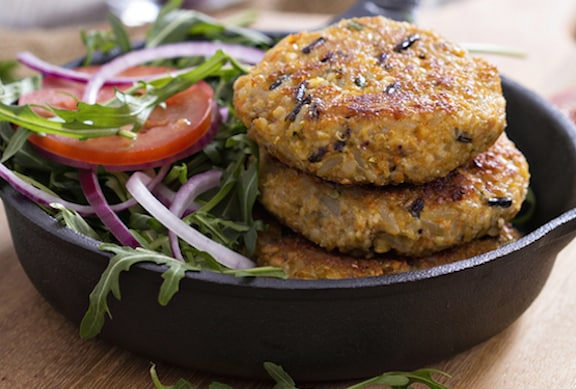 Quinoa and Wild Rice Vegan Burger