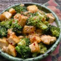 Sesame-ginger tofu and broccoli