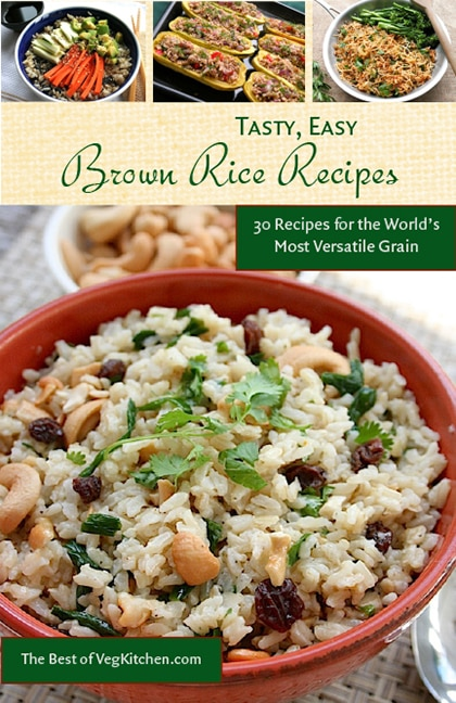Brown rice cooking tips and varieties vegkitchen tasty easy brown rice recipes e book ccuart Images