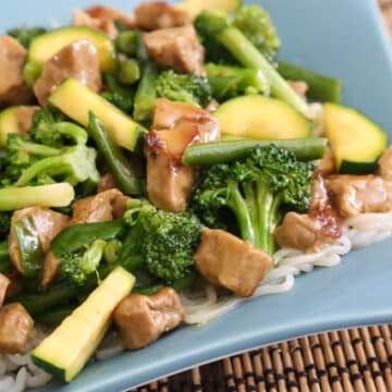 Triple Jade Stir-Fry with tofu or seitan