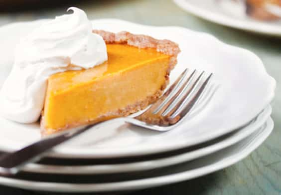 Vegan Praline pumpkin pie by Allison Rivers Samson