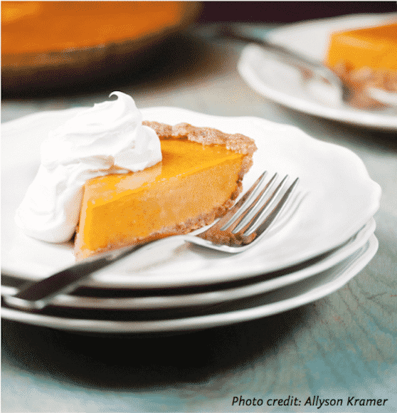 Praline pumpkin pie recipe by Allison Rivers Samson