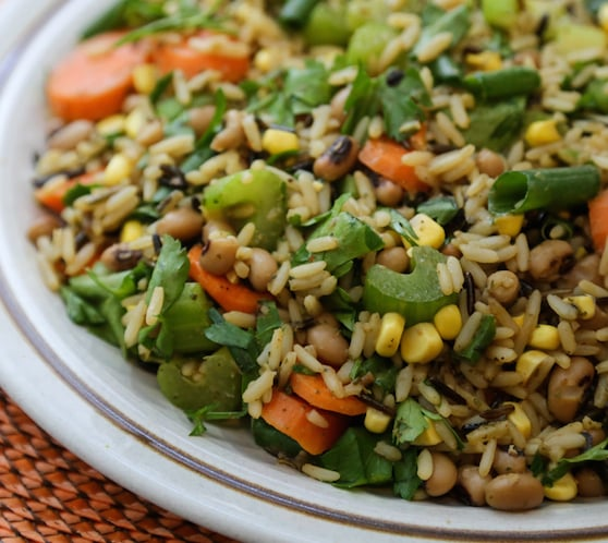 Wild Rice Salad with corn and black-eyed peas recipe