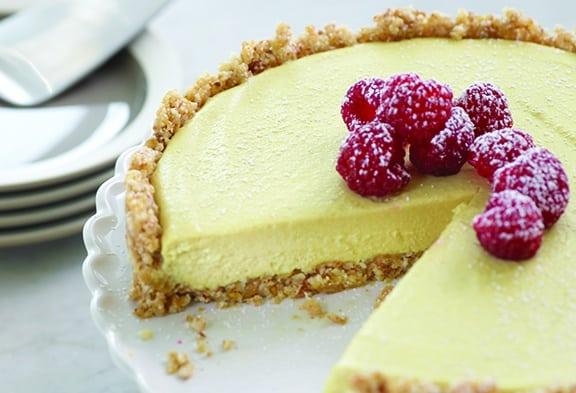Lemon Raspberry Mousse Tart by Amber Shea - vegan and raw