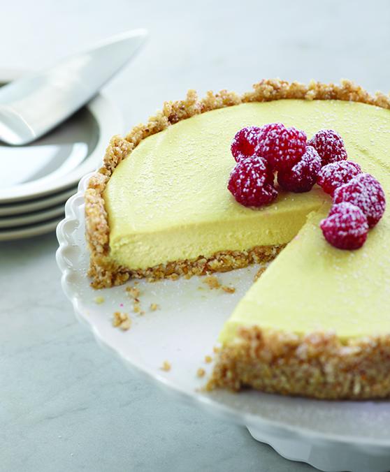 Lemon Raspberry Mousse Tart by Amber Shea - vegan and raw recipe