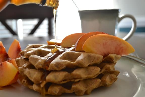Vegan pumpkin waffles recipe