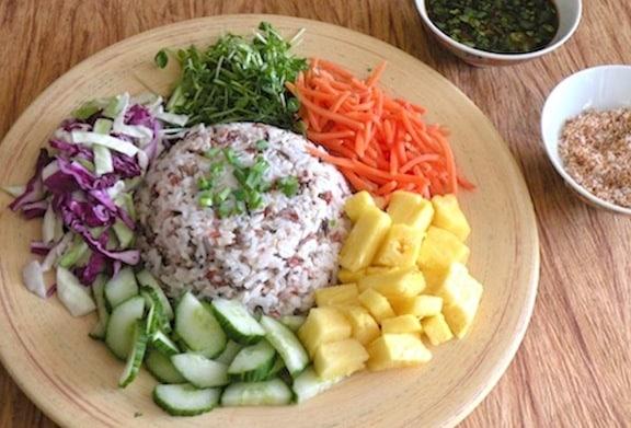 Thai Composed Rice Salad (Kao Yum Pahk Dai)