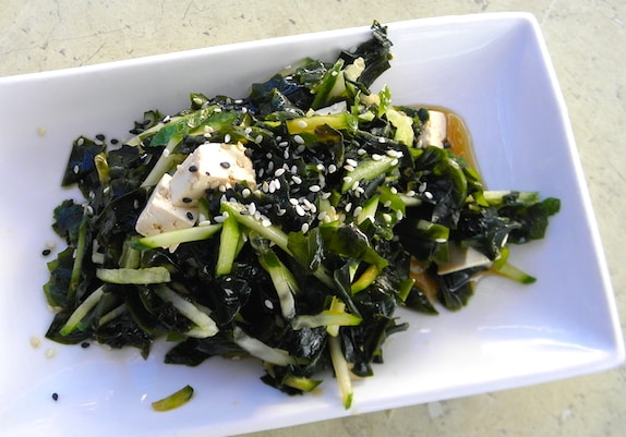 Japanese wakame and cucumber salad