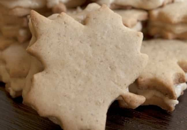Cream Maple Leaf Cookies