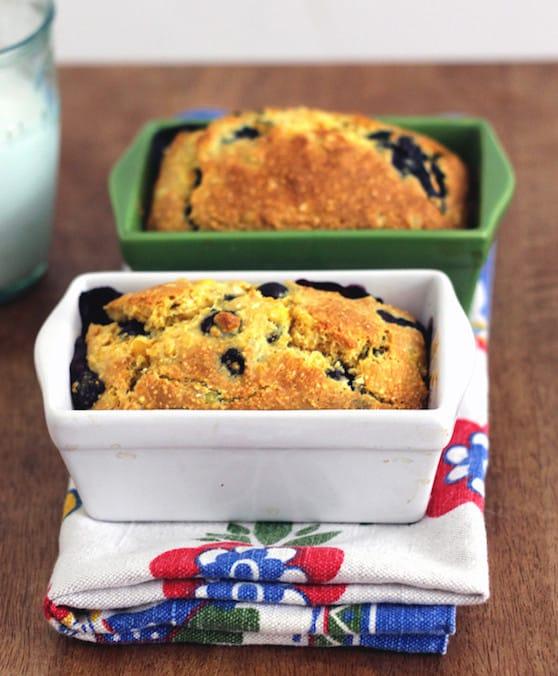 Vegan blueberry cornbread recipe