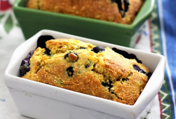 Vegan Blueberry Cornbread