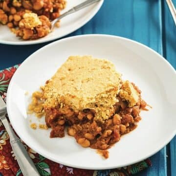 Maple Baked Beans with Cornbread Topping But I Could Never Go Vegan by Kristy Turner