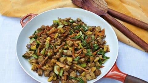 Ginger Vegetable Tempeh Stir Fry 1024x681