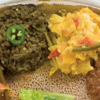 Spicy golden cabbage from Teff Love by Kittee Berns