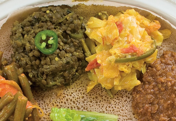 Ethiopian Stewed Seasoned Cabbage in Golden Tomato Sauce