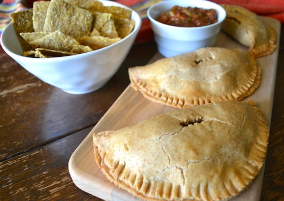 Pinto Bean, Green Olive, & Sweet Potato Turnovers