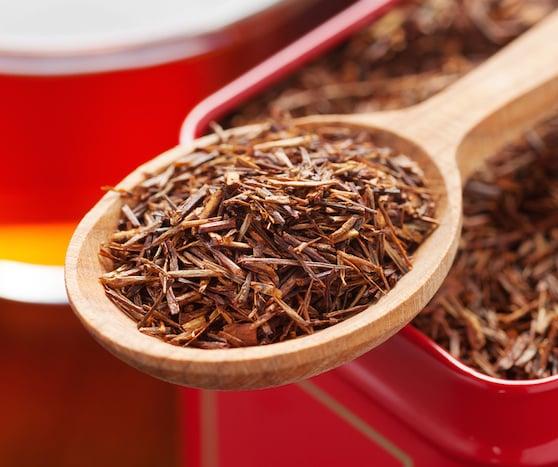 Rooibos Tea in spoon