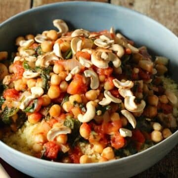 Spinach and chickpea couscous from Love and Lentils