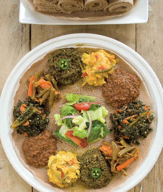 Teff Love injera platter by Kittee Berns