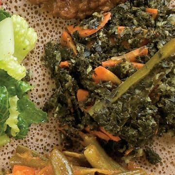 Tender kale and carrots from teff love