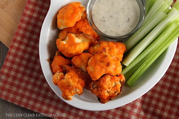 Vegan cauliflower buffalo bites