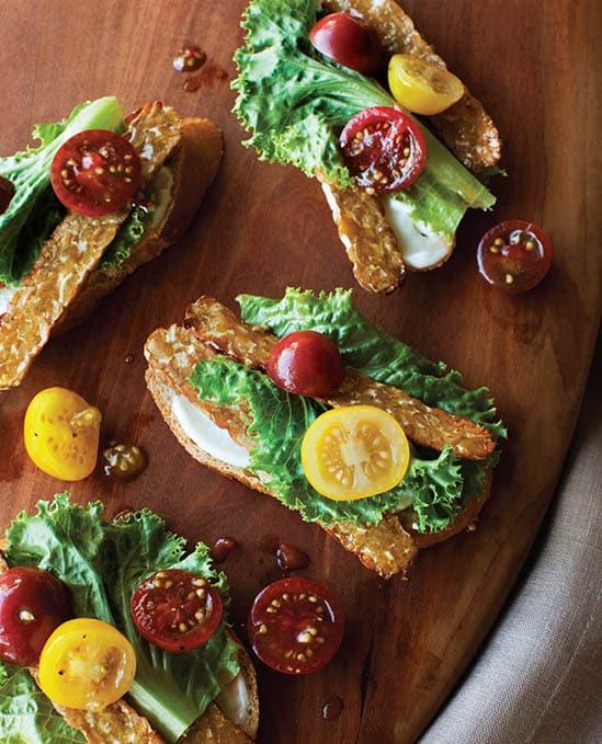 Vegan BLT Tartines recipe