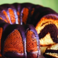 Vegan Chocolate Vanilla Bunt Cake
