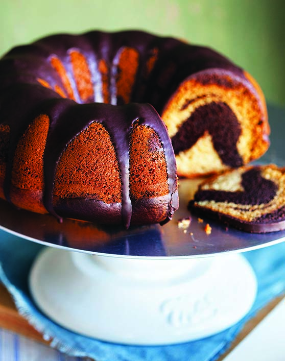 Vegan Chocolate Vanilla Bunt Cake recipe