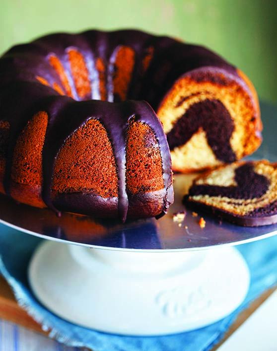 Vegan Chocolate Vanilla Bunt Cake recipe