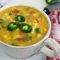 Potato, Corn, and Green Chile Soup