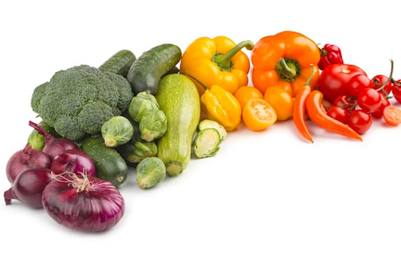 rainbow of fresh vegetables